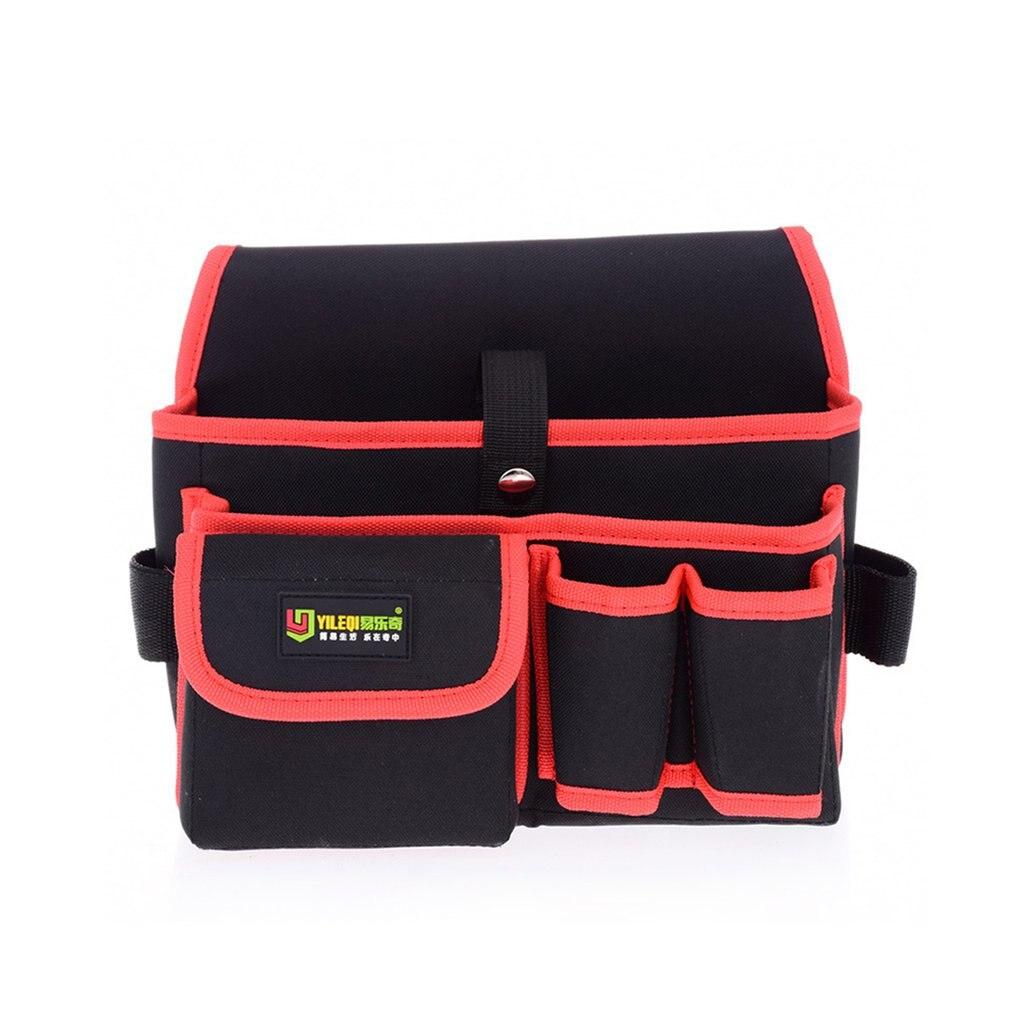 Waterproof Multi-pockets Waist Pockets Tool Bag Electrician Tool Bag Oganizer Carrying Pouch Belt Waist Pocket Case