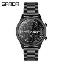 Sanda 2020 Модные мужские Смарт часы с Полноразмерным сенсорным