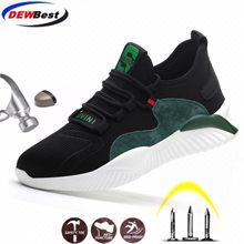 Chaussures de sécurité à bout en acier pour homme, baskets d'extérieur anti-perforation, indestructibles, livraison gratuite
