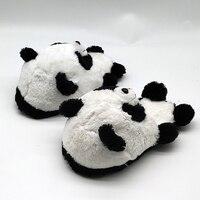 panda indoor warm custom fur slippers timber land shoes Custom slippers Home House Slipper Children men women winter