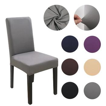 Krzesło z tkaniny pokrowiec na krzesła do jadalni pokrowce na krzesła z wysokim oparciem pokrowiec na krzesła do kuchni na sofę i fotele tanie i dobre opinie Gładkie barwione Nowoczesne Hotel krzesło Ślub krzesło Bankiet krzesło Elastan poliester