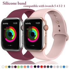 Pasek silikonowy pasek na Apple Watch 42mm 38mm 44mm 40mm gumowa bransoletka od zegarków czarny pasek Iwatch seria 5 4 3 2 1 opaska tanie tanio bergreen 20 cm RUBBER Nowy bez tagów silicone2 watchbands