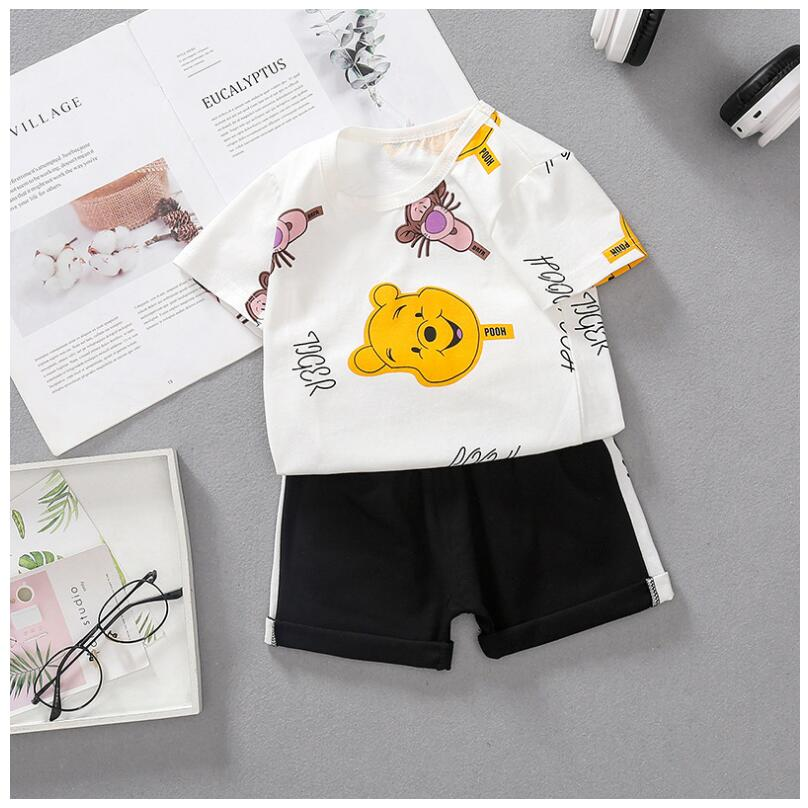 2020 Summer Baby Boys Girls Clothes Suits Toddler Infant Clothing Sets Flower Shirt  Shorts Kids Children Casual Suit