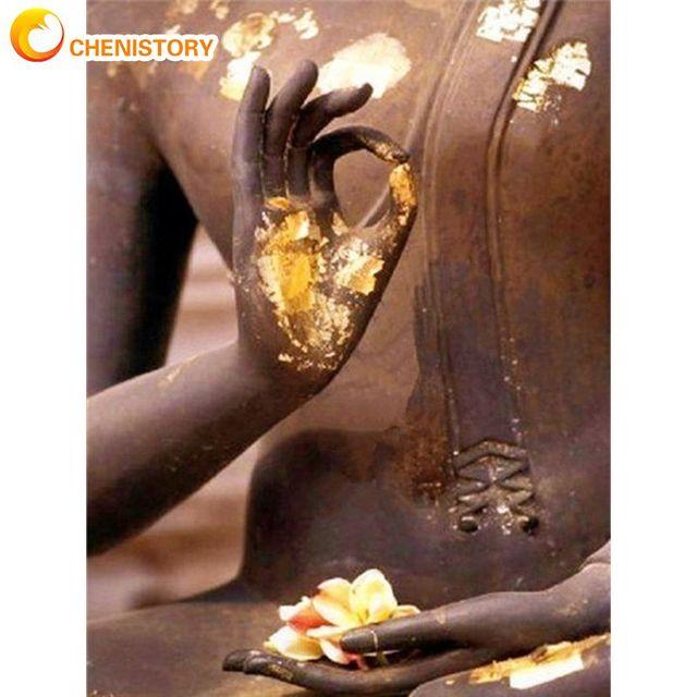Статуя Будды chenistory картина по номерам для взрослых наборы