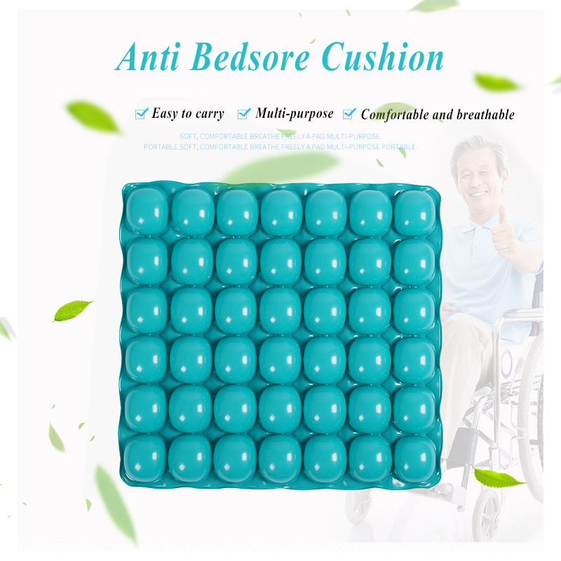 Green One Layer Air Cell Anti Decubitus Cushion Wheelchair Air Inflatable Seat Home Office Cushions Anti Bedsore Pads Chair