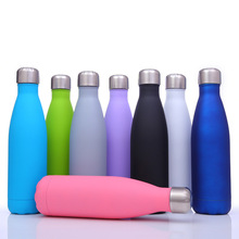 500ml Rubber Paint Solid Color Water bottle Vacuum Cup Swell Originality Motion Kettle Thermos C1191 g