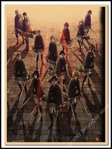 Японское аниме атака на Титанов постеры украшение для дома крафт-фильм постер Рисование основные настенные наклейки