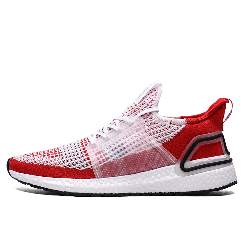 New Arrivals Flyknit Breathable Men Running Shoes Hot Red Trainers Men Sneakers Outdoor Sport Shoes Zapatillas Deportivas Hombre