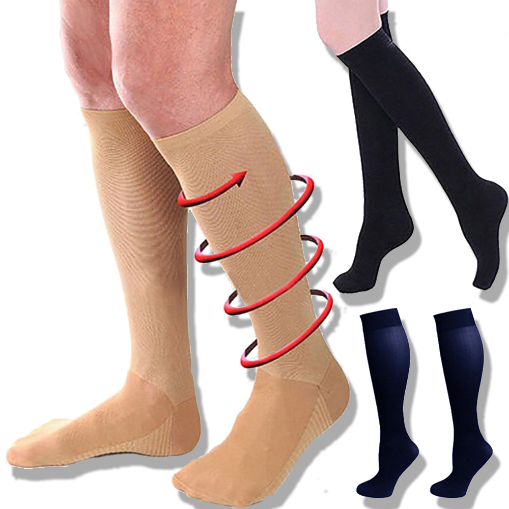 Compression Socks Graduated Foot Leg Support Stocking Men's Women's Lot High Tube Stockings Medical Support Leg Shaping 3 Pairs