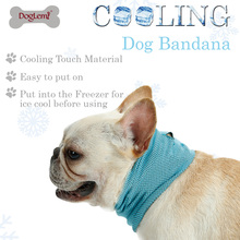 Summer Polyester Sunstroke Cooling Towel Neck Wrap Dog Collar Instant Ice Bandana Scarf for Pet Small Dogs Bulldog