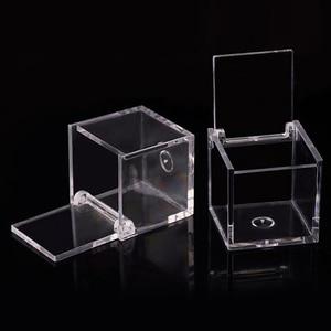 Image 4 - 12pcs 아크릴 사탕 상자 명확한 초콜렛 음식 급료 플라스틱 결혼식 당 호의 포장 상자 생과자 콘테이너 보석 저장 상자