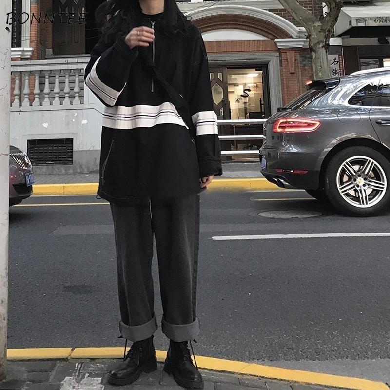 Jeans Women Straight High Waist Denim Retro Loose 2XL Simple Casual Womens Trousers Harajuku BF Unisex Hip-Hop Fashion Ulzzang