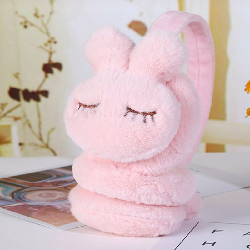 1Pc Kids Winter Warm Earmuffs Thicken Plush Cute Cartoon Rabbit Ear Cover Warmers Hot