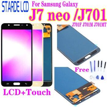 5.5 'بوصة ل سامسونج غالاكسي J7 Neo LCD عرض J701 J701F J701M J701MT اللمس شاشة LCD عرض الجمعية استبدال أجزاء|شاشات LCD للهاتف المحمول|   -