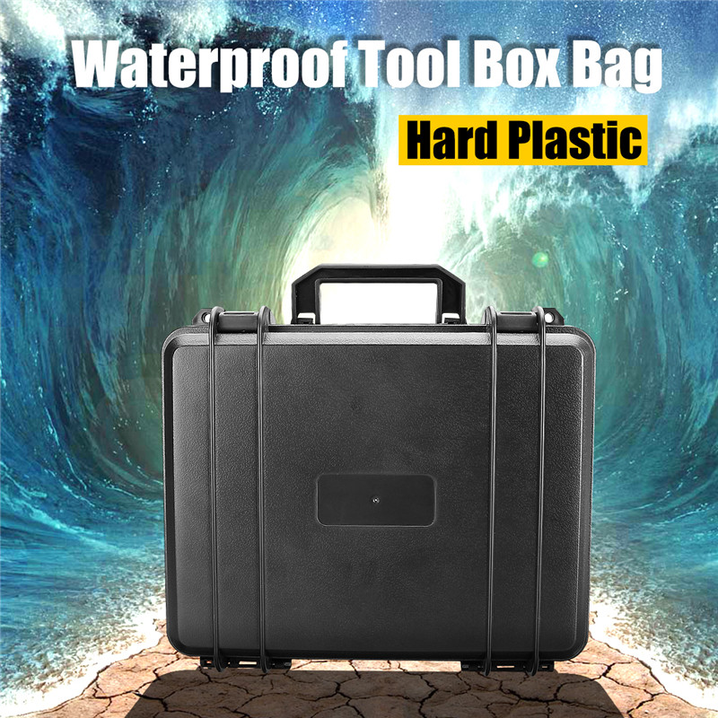 Outdoor Waterproof Hard Plastic Storage Case Bag Resistant Suitcase With Foam Tool Box Portable Organizer Impact