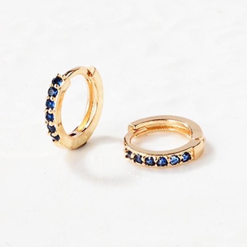Small Huggies Hoop Earrings Multicolor Cz Hoop Cartilage Earrings Stud Minimal Tiny Ear Piercing Jewelry Wholesale