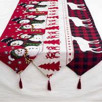 Льняная скатерть с оленем и снеговиком для рождественских праздников, скатерти, коврики для свадьбы, Рождества, Нового года, праздничные, ве...