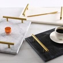Мраморный поднос, тарелки с золотой ручкой, тарелка для хлеба и сыра, тарелка из натурального мрамора