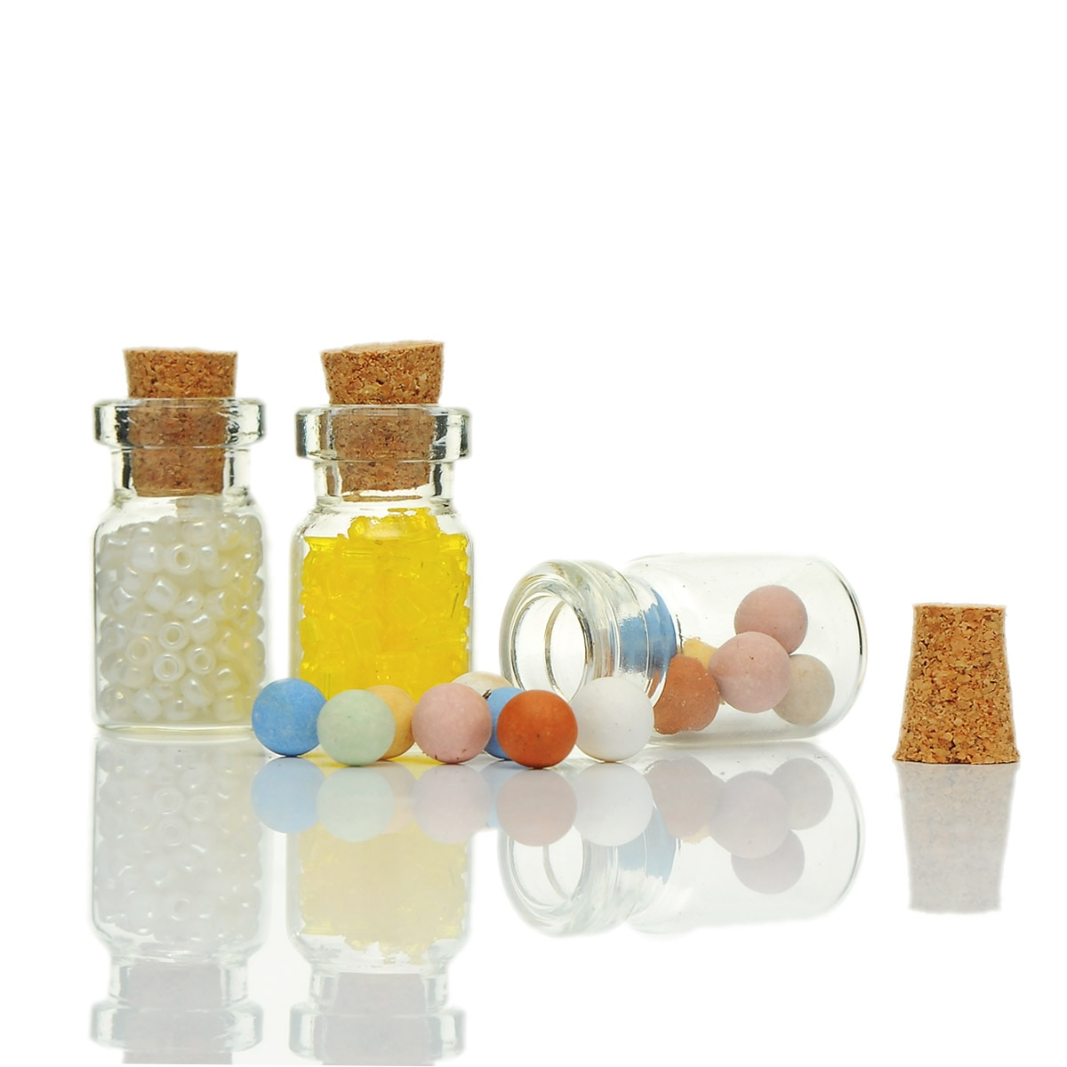 Tie Plug Tiny Gl Storage Bottles