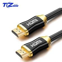 Kabel Hdmi Naar Hdmi 4K Kabel 2.0 Versie Luxe Vergulde Male Naar Male Adapter Kabel 3D Voor Projector hd Tv Stb Laptop Kabel