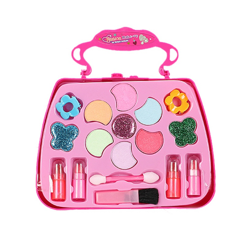 Kids Make Up Toy Set Pretend Play Princess Pink Makeup Beauty Safety Non-toxic Kit Toys For Girls Dressing Cosmetic Girls