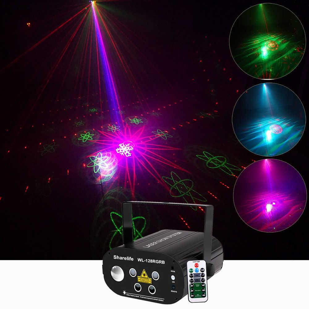 Sharelife Mini 4 объектив 128 RGRB узор лазерный свет RGB LED Аврора дистанционное управление