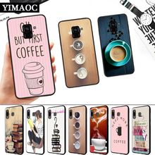 Ok But First Coffee Book Silicone Soft Case for Samsung A3 A5 A6 Plus A7 A8 A9 A10 A20 A30 A50 A10S A30S A50S