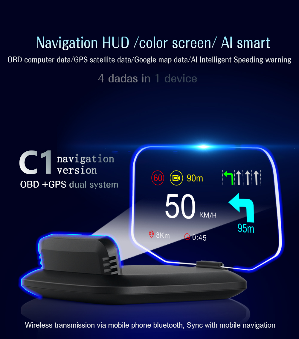 C1 HUD Mirror with Navigation system  (1)