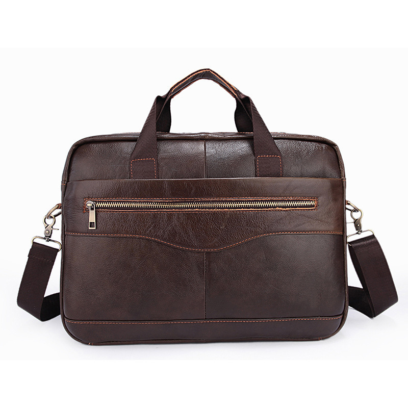 Genuine Leather Male Package Man Leisure Time Business Affairs Briefcase Cross Section Men's Single Shoulder Satchel Handbag Hot