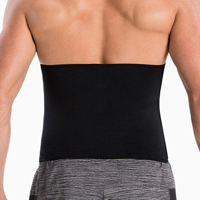 Newest Men Sweat Belt Body Shaper Waist Trainer Tummy Control Belt Sauna Slimming Strap Fitness Sweat Shapewear for Fat Burner 1