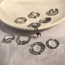 Женское кольцо в стиле ретро широкое с многослойным улыбающимся