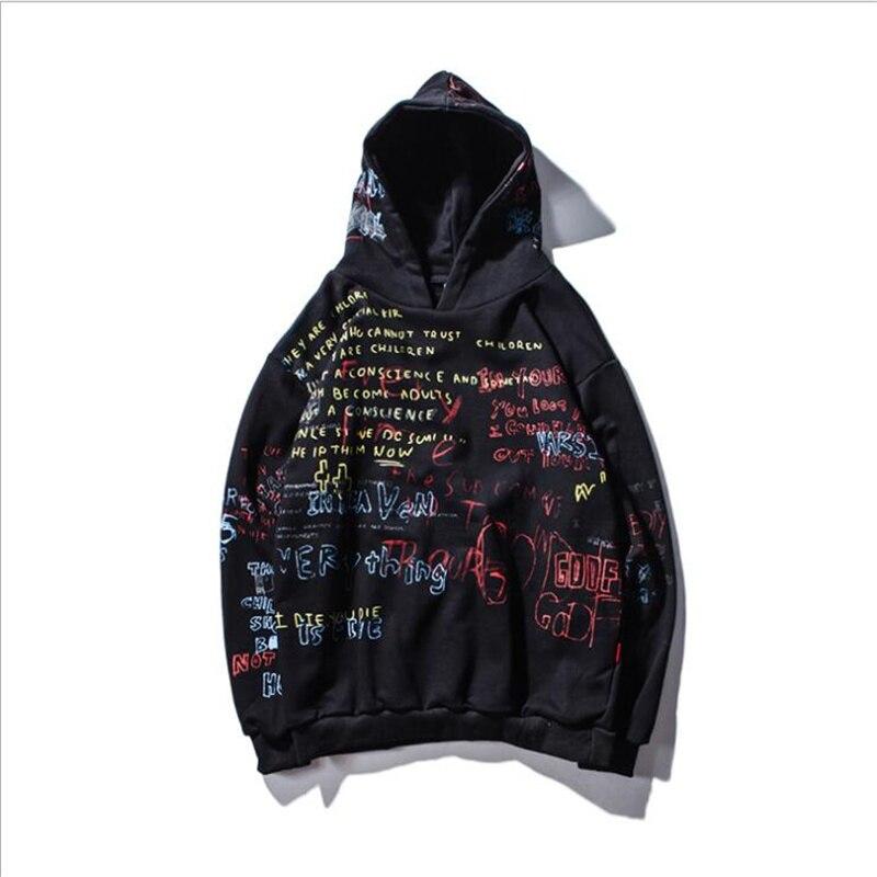 Nouveauté 2020 automne Hip Hop Graffiti Sweats à capuche pour hommes Pullover décontracté sweat à capuche pour hommes