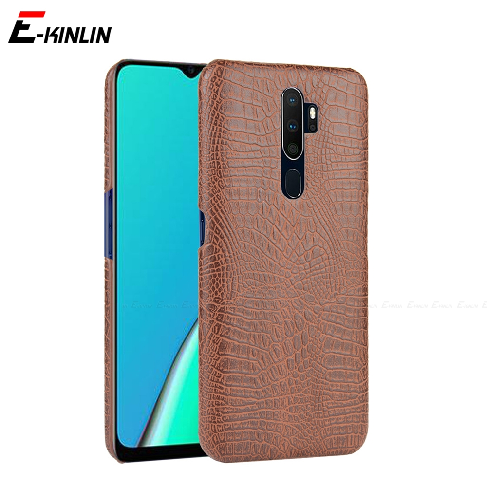 Snake Crocodile Leather Case For OPPO AX5 AX5s AX7 A1 A1k A3s A5s A7 A8 A71 A71k A73 A75 A79 A83 A91 A31 A5 A9 2020 Back Cover image