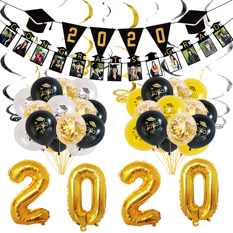 Graduation 2020 Class Of 2020 Party Congrats Decorations Supplies Gift Balloons Decor Polyester Backdrop Items