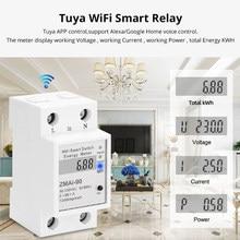 5(60) um wifi kwh medidor de consumo elétrico digital kwh ruído trilho inteligente medidor de energia wi fi medidor de energia com exibição