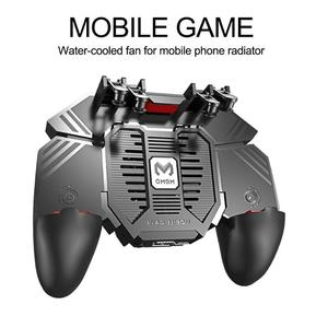 Image 2 - AK77 PUBG Controller Helper Mobile Phone Radiator Six Fingers Linkage Game Button Physical Compression Quick Shooting Handle