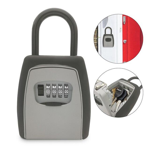 Keys Storage Wall Mounted Aluminum alloy Keys Safe Box  Weatherproof  Lock Outdoor Keys Safe Box Security Organizer Boxes