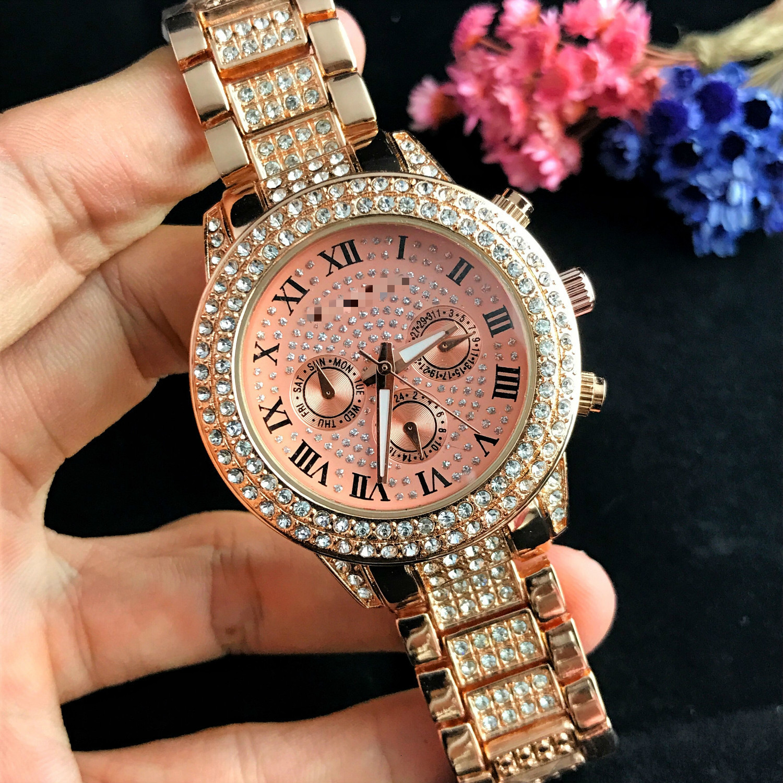 Fashion Silver Gold Diamond Stainless Women Watch Quartz Wrist Watches Ladies Girls Famous Brand Female Clock Montre Femme Reloj