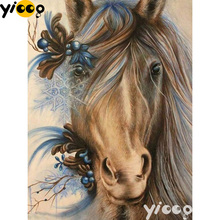 Full Square/Round drill diamond Painting horse animal 5D DIY diamond embroidery mosaic Decoration painting AX0106 full square round drill diamond painting horse animal 5d diy diamond embroidery mosaic decoration painting ax0106