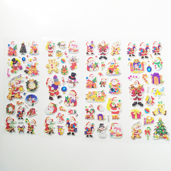 5 Sheets 3D Santa Claus Stickers DIY Scrapbook Waterproof PVC Stationery Diary Kids Children Christmas Gifts - discount item  40% OFF Stationery Sticker