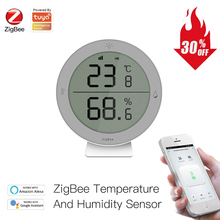 ZigBee3.0 Tuya Smart Temperature And Humidity Sensor with LED Screen Display Battery Work with Smart life APP Alexa Google Home