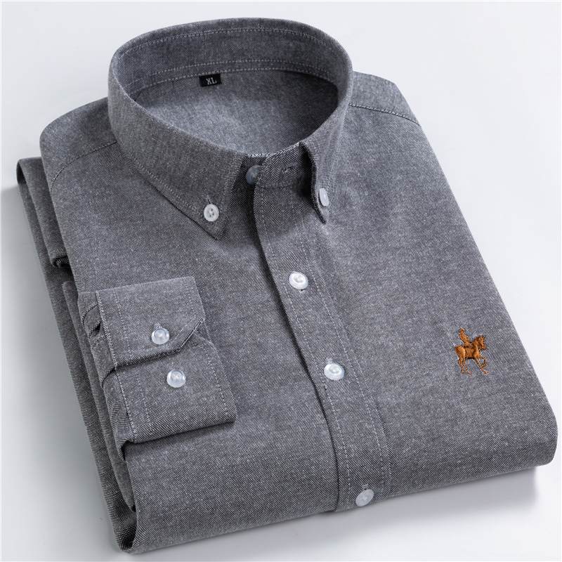 2020 New Spring Casual Long Sleeve Shirt Men Slim Fit Solid Business Men Shirt Male Clothing Brand Tops Plus Size