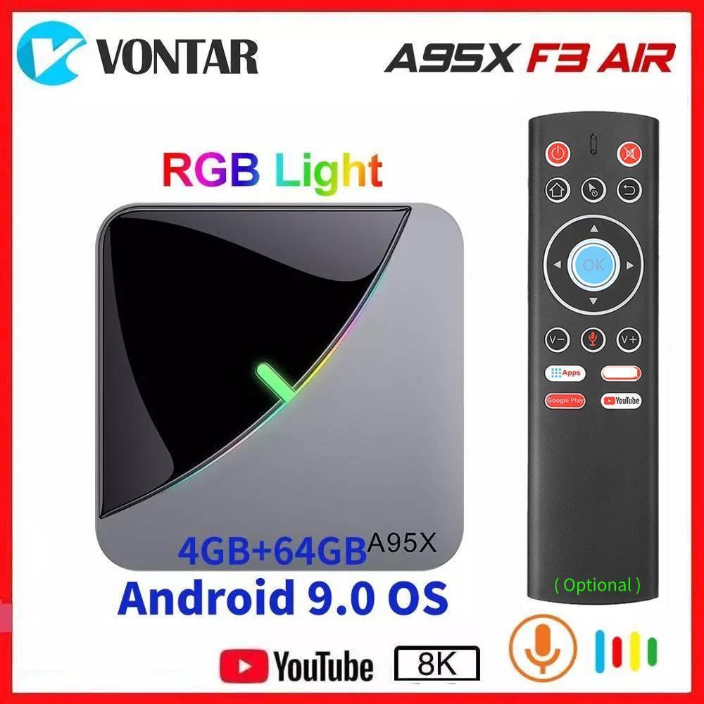 A95X F3 Air Amlogic S905X3 Android 9 0 TV BOX A95X F3 RGB Light Smart Set Top Box Max 4GB RAM 64GB ROM 8K Media Player OTA 2 16G