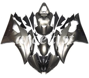 New ABS Motorcycle Full Fairings Kit Fit For YAMAHA YZF-R6 2008 - 2016 08 09 10 11 12 13 14 15 16 body set Gray