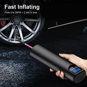 Portable Air Compressor Inflatable Pump with LCD Display USB Interface for Car Bicycles Tires Balls Swimming Rings YA88