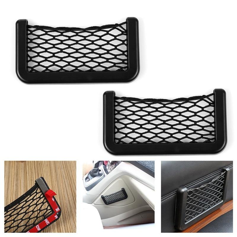 Car Net Bag Large Multi-Function Car Storage Net 14.5*8.5cm Car Sundries Storage Interior Accessories