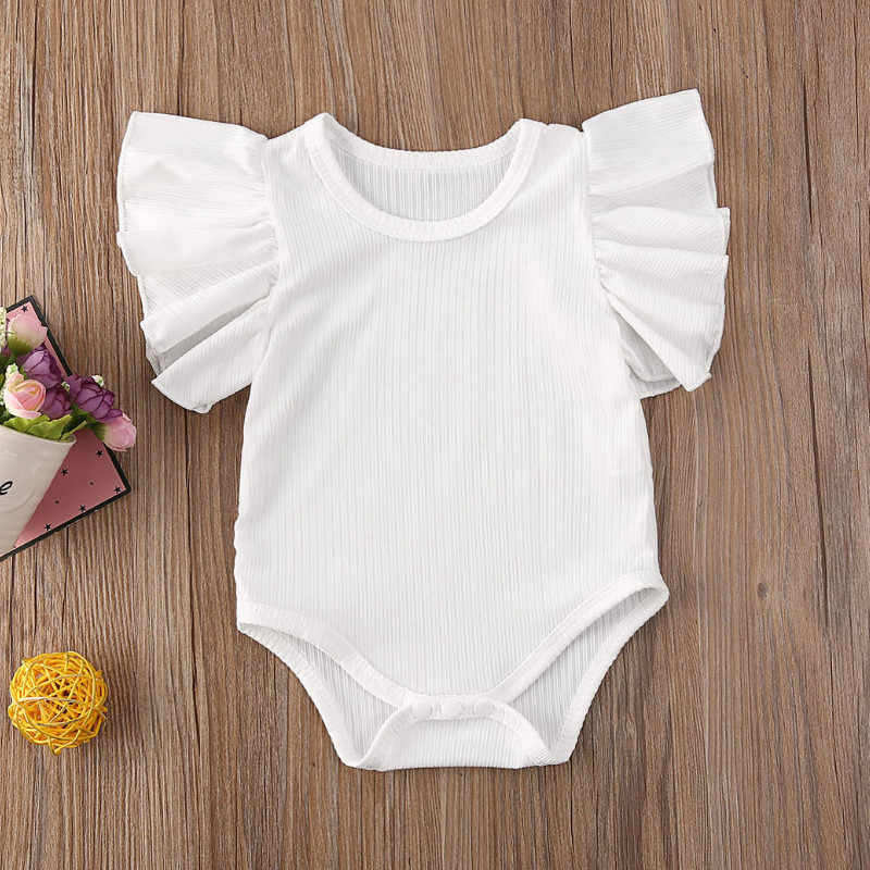 Emmababy Newborn Infant Baby Girl Short Sleeve Cotton Romper Jumpsuit Bodysuit Clothes Set Sunsuit Summer