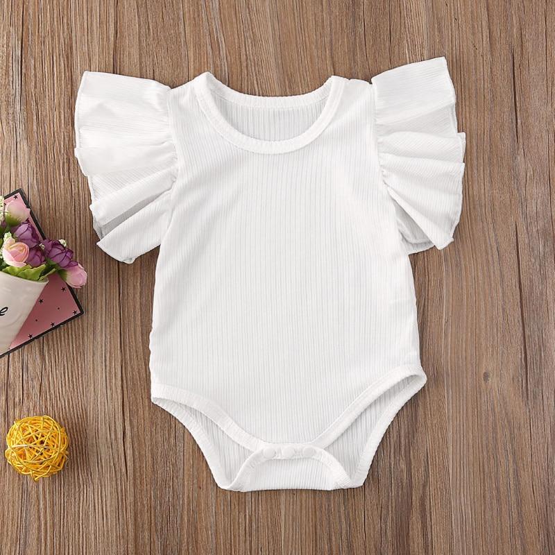 Emmababy Newborn Infant Baby Girl Short Sleeve Cotton Romper Jumpsuit Bodysuit Clothes Set Sunsuit Summer