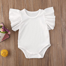 Emmababy Newborn Infant Baby Girl Short Sleeve Cotton Romper Jumpsuit Bodysuit C