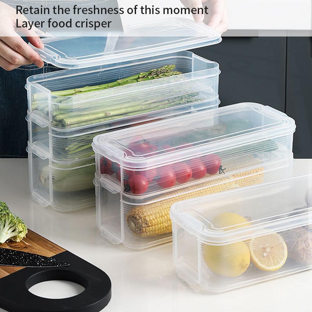Contenitori Per Organizzare Frigo us $6.3 28% di sconto caldo di plastica contenitori di stoccaggio scatola  di immagazzinaggio frigorifero di conservazione degli alimenti contenitori